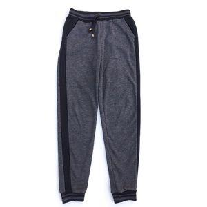 Black Gray Fleece Joggers Sweatpants Size Small
